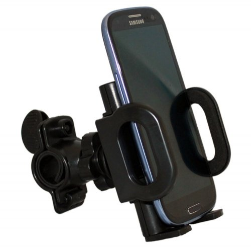Xenda Universal Rotating Bicycle Mount Bike Handlebar Cell Phone Holder for HTC Titan - HTC One VX - HTC HD2 - HTC 7 - Case Silicone Trophy Htc