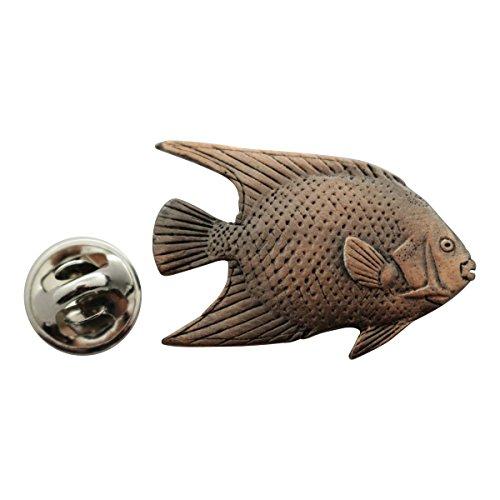 - Angelfish Pin ~ Antiqued Copper ~ Lapel Pin ~ Sarah's Treats & Treasures