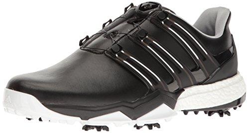 Adidas Powerband BOA Boost Golf Shoe, Black/White, 12 M ()