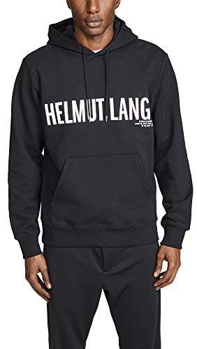 Helmut Lang Mens - Helmut Lang Men's Exclamation Hoodie, Black Basalt, Large