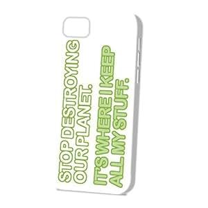 Case Fun Apple iPhone 5C Case - Vogue Version - 3D Full Wrap - Stop Destroying Our Planet