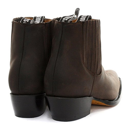 Amoladoras unisex Maverick Marr—n genuino cuero del tobillo botas de vaquero occidental