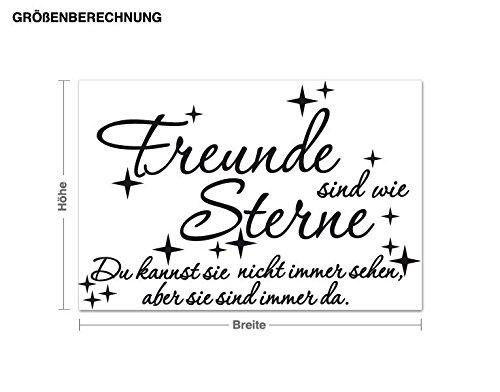 Klebefieber Wandtattoo Freunde Sind Wie Sterne B x H    80cm x 53cm Farbe  türkis B071YVQCRT Wandtattoos & Wandbilder 0d2289
