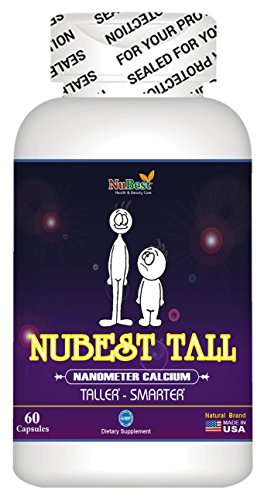 1 Maximum Natural Height Growth Formula   Nubest Tall 60 Capsules   Height Supplement   Grow Taller Pill Supplement   Nanometer Calcium   Doctor Recommended
