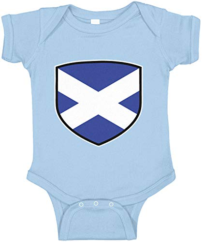 Amdesco Scotland Shield Scottish Flag Infant Bodysuit, Light Blue 24 Month