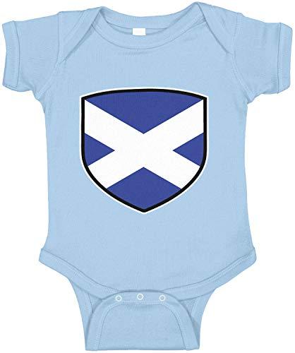 Amdesco Scotland Shield Scottish Flag Infant Bodysuit, Light Blue 24 Month