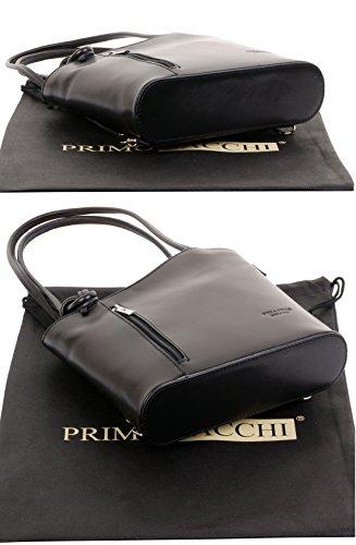 protecteur Moyen à cuir main main nbsp;Versions en la Sac à à sac bandoulière un sac sac à fabriqué moyennes Noir marque italien ou et grandes dos nbsp;Comprend de rangement de tfF76qw