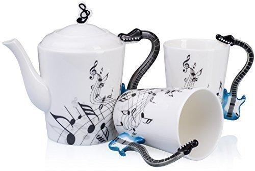 VENKON - Musikalisches 3-teiliges Keramik Teeservice