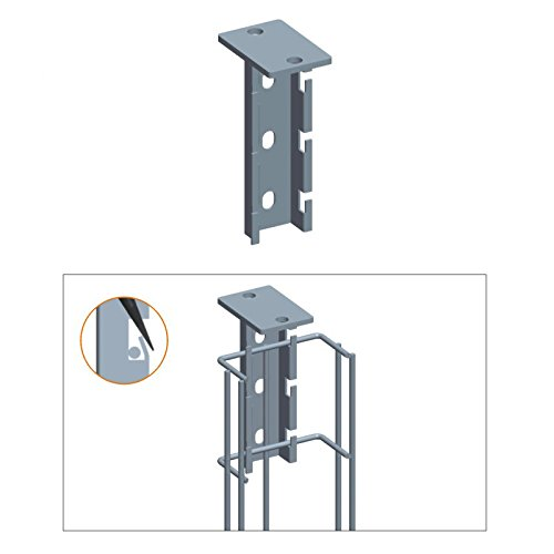Quest Manufacturing Cable Tray T-Type Hanging Bracket, Zinc (CT0015-03) by QUEST MANUFACTURING