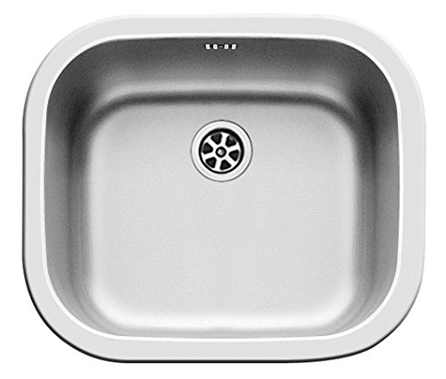 Pyramis 100080101 Stainless Steel Kitchen Sink with Single Bowl, Grey, 40 x 34 x 15 cm