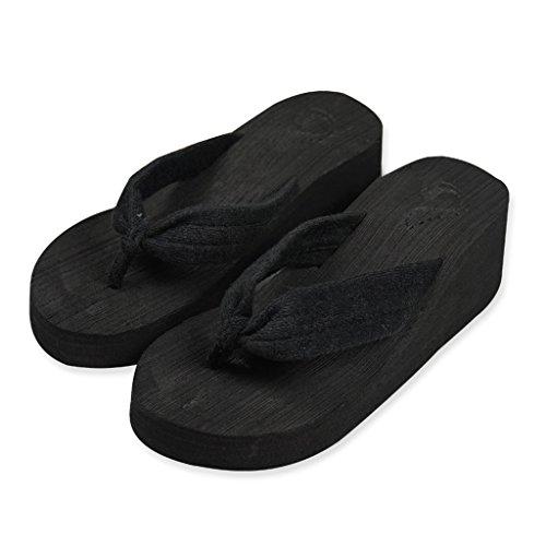Dear Time Women Flip Flops Shoes Summer Sandals Casual Platform Slipper Black YPRoyOjl0a