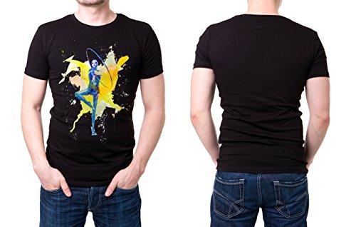 Turnen_V schwarzes modernes Herren T-Shirt mit stylischen Aufdruck