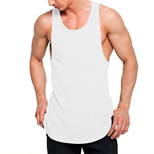 OA ONRUSH AESTHETICS Mens Fashion Super Longline Vest Step Hem Extreme Racer Back Tank Tops