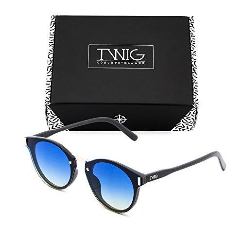 Azul degradadas sol mujer Degradado TWIG KANDINSKY Gafas de espejo hombre Negro qXpaUzUw
