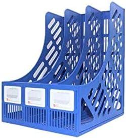 AGWa Storage Organizer Box, Aktenregale, Aktenordner, Kunststoff Robuster Desktop 3 Abschnitte Plastikmagazinhalter Rahmen Dateiteiler Dokument