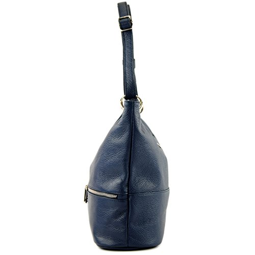 cuir T143 sac d'épaule en dames sac sac de épaule Dunkelblau ital cuir modamoda en YTwzIRwq