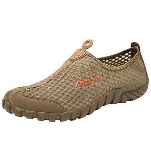 Yucode Mens Slip On Water Shoes Barefoot Beach Pool Shoes Quick-Dry Aqua Yoga Socks for Surf Swim Water Sport