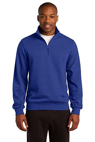 Sport-Tek Mens 1/4-Zip Sweatshirt, Small, True Royal
