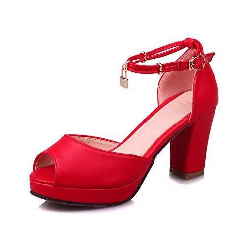 AdeeSu Cheville SLC04305 Bride EU Femme Red 36 Rouge 5 PqPar4w