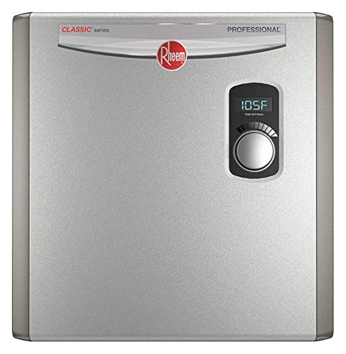 RHEEM 208/240V General Purpose Electric Tankless Water Heater, 27,000 Watts, 112 Amps - Water Heaters (Rheem 27)