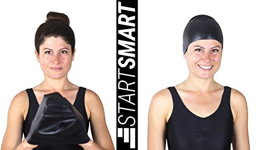 Start Smart Non Slip Silicone Swim Cap For Long Hair