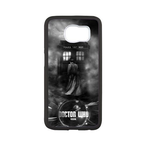 Zyhome Galaxy S6 Doctor Who Tardis Police Box Case Cover for Samsung Galaxy S6 (Laser Technology) (10th Doctor Dress)