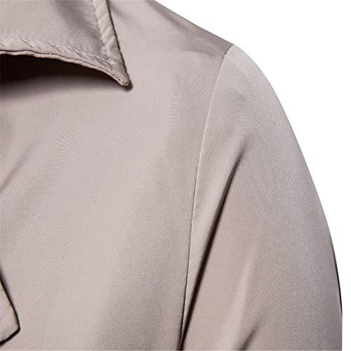 Comfort Wear Para Chaqueta M Beige Casual Hombre q1ntfFw8Z