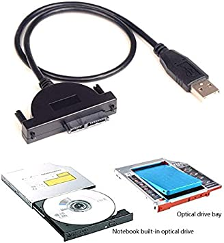 Cables USB 2.0 to 7 Cable Length: Other 6 PIN SATA CD-ROM Optical Drive Adapter Cable for Laptop Computer @JH