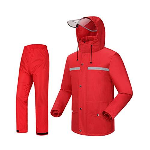 Gros Rouge Medium HBWJSH Pantalon de Pluie imperméable Costume imperméable de Mode Split imperméable Poncho, adapté pour Le Camping Voyage Escalade en Montagne (Couleur   Le Jaune, Taille   XXXL)