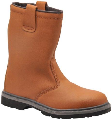 SteeliteTM - Stivali di sicurezza con doppio rivestimento, Taglia UK 9, Taglia EU 43, colore: Marrone chiaro