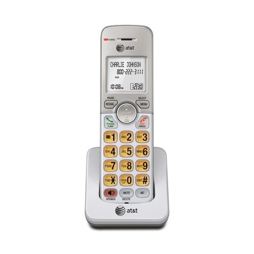 AT&T EL50003 Accessory Cordless Handset, White | Requires AT&T EL52103, EL52203, EL52253,EL52303, EL52353, EL52403, or EL52503 to - T At Cordless & Lcd Phone