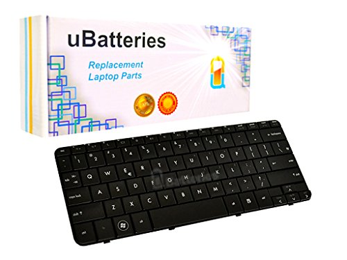 UBatteries Compatible Laptop Keyboard Replacement For HP Pavilion DV2-1000 DV2-1100 DV2-1200 506782-001 505999-001 505999-B31 517584-001 LKB-HC31B - Black