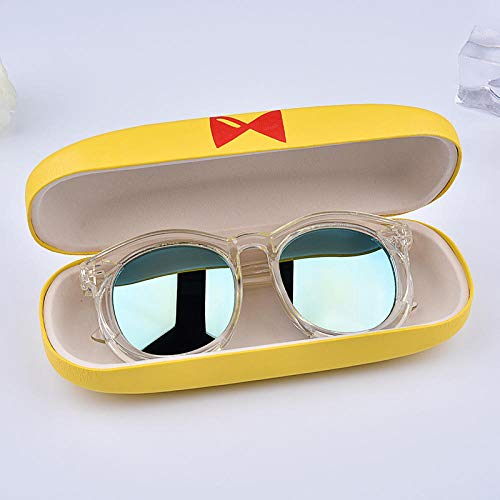 - CYCY 2-9 Years Old Children Glasses Sunglasses Boys and Girls Sunglasses Anti-UV Glasses Baby Sunglasses Tide Powder Frame Purple, Transparent Frame Cyan Lens Package 2 car Glasses Box + Cloth + Bag