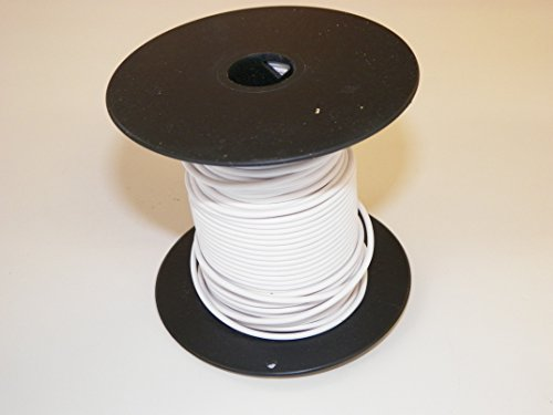 WHITE Automotive Copper Wire, GXL, 18 GA, AWG, GAUGE. Truck, Motorcycle, RV. General Purpose. 5 DEFFERENT LENGTHS, SELECT LENGTH BELOW (100 FEET)