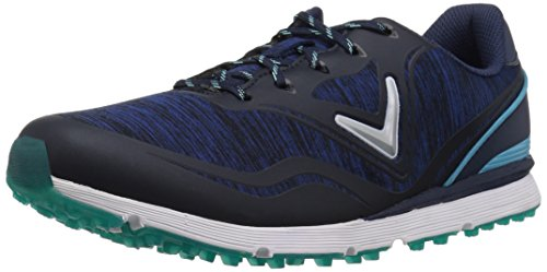 Callaway Women's Solaire Golf Shoe, Navy/Blue, 8.5 B US