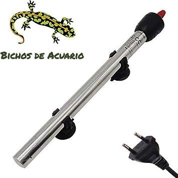 Calentador para Acuario de Acero Inoxidable 50w Enchufe EU, 30-60 litros: Amazon.es: Productos para mascotas