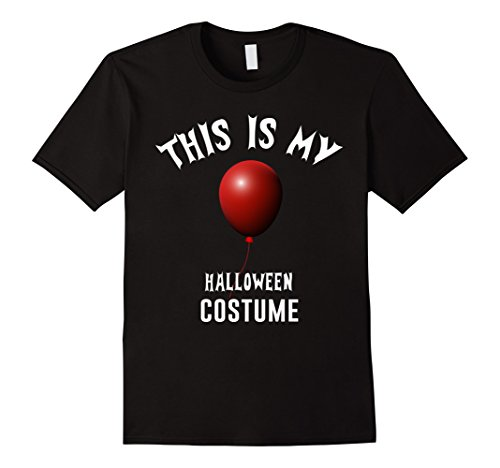 Mens This Is My Halloween Costume Floating Red Balloon Shirt Medium Black