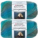 Bulk Buy: Red Heart Boutique Unforgettable Yarn (2-pack) (Tidal)