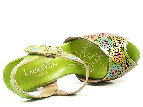 Laura Vita YF229-3 Danielle 03 Schuhe Damen Sandalen Grün