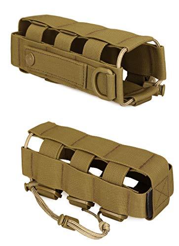 Yakmoo Sac de Bouteille d'eau Réglable 300-800ml Style Militaire Tactique Nylon Sac Bandoulière Imperméable Molle… 4