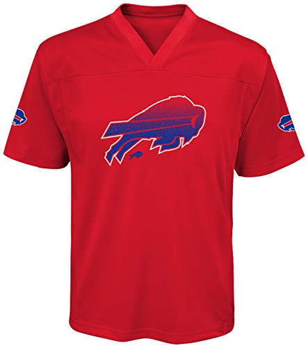 NFL Buffalo Bills Youth Boys Color Rush Fashion Top, Medium (10-12), University Red
