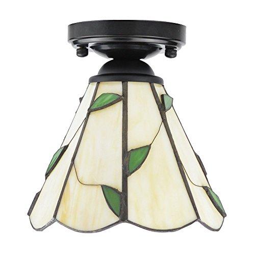 ZHMA Estilo de Tiffany lámpara de techo, 15cm Lamparas Tiffany ...