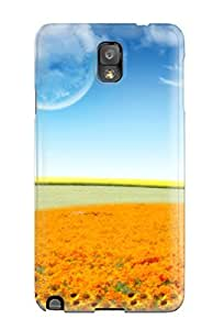 DPatrick Scratch-free Phone Case For Galaxy Note 3- Retail Packaging - Dreamy Flower World
