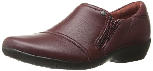 CLARKS Womens Ordell Baytown Flat Wine Leather 264f7UY