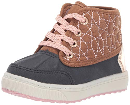 OshKosh B'Gosh Girls' Tarin Ankle Boot, Navy/Pink, 4 M US Toddler