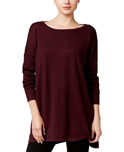 Style & Co. Petite Boat-Neck Tunic Sweater (Dried Plum, Large Petite) by Style & Co.