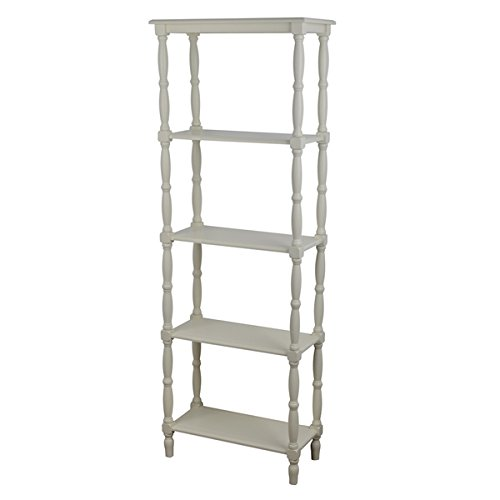 Decor Therapy Simplify Off-white MDF and Veneer 3-tiered Bookshelf, Bookshelves, Storage - Mdf Maple Bookcase
