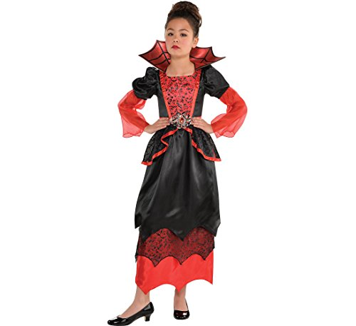 Amscan Girls Vampire Queen Costume - Large (12-14), Black
