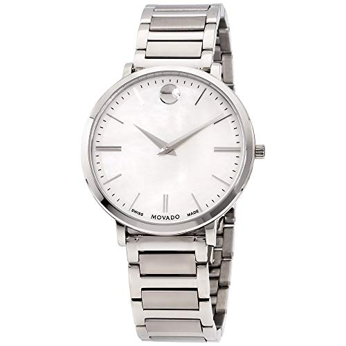 Movado Ultra Slim Quartz Movement Mother Of Pearl Dial Ladies Watch 0607170 (Movado Slim Watch)