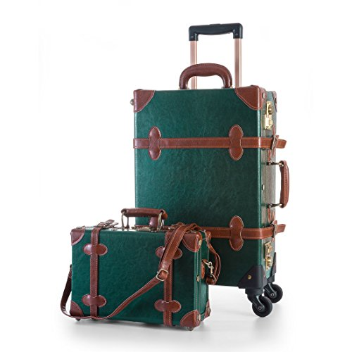 vintage luggage with wheels - 7